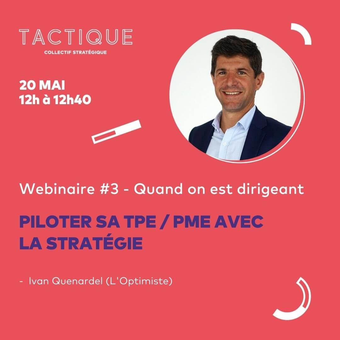 Visuel de présentation du webinaire Tactique n3 sur la stratégie au sein des pme et tpe