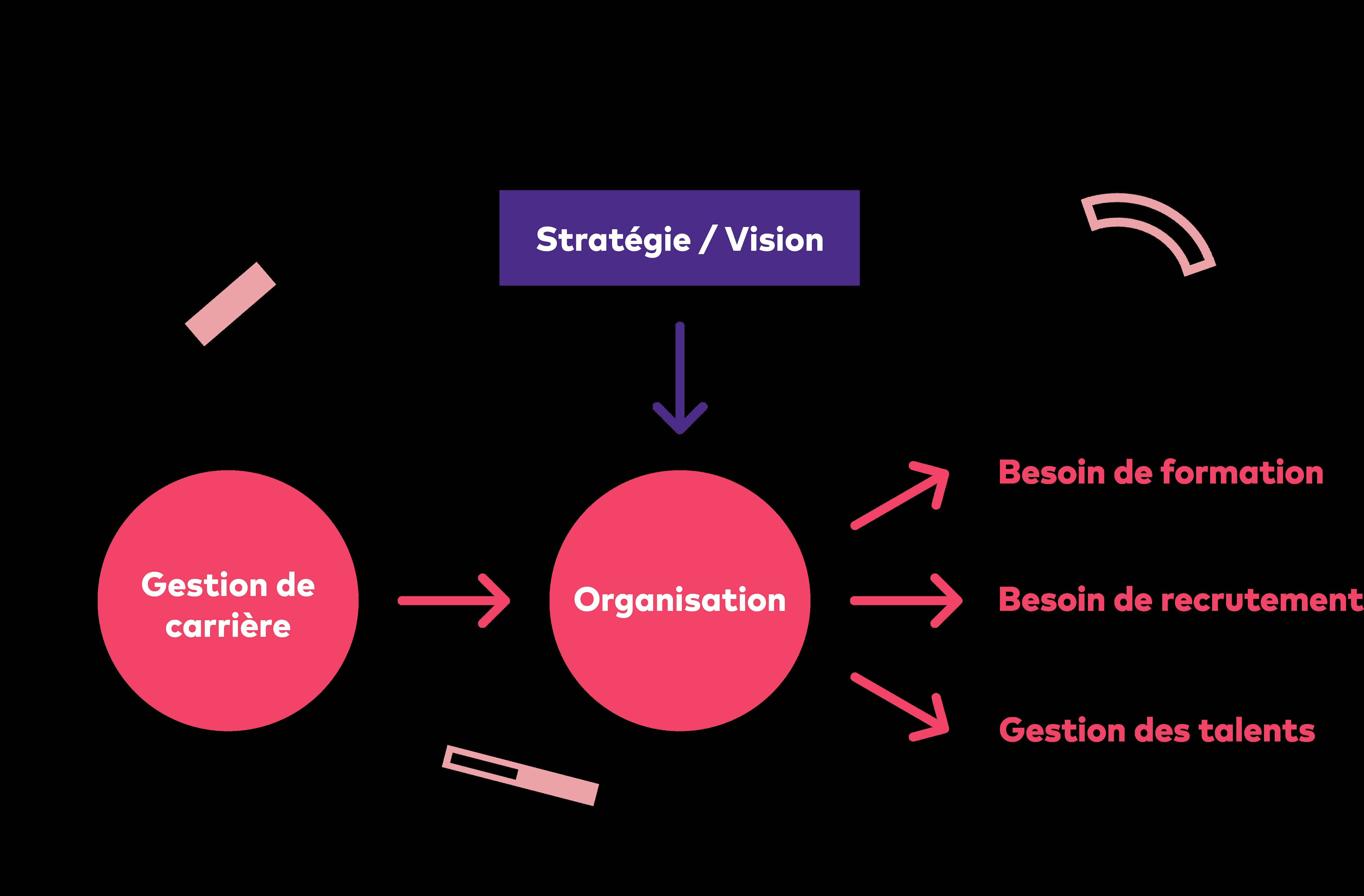 Visuel schéma l'organisation de la rh article Tactique
